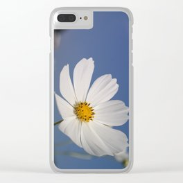 White Cosmos Clear iPhone Case