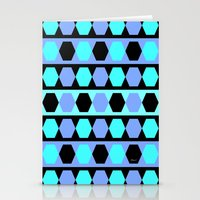 polygon Stationery Cards featuring Polygon by Heaven7