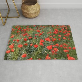 A stroll of poppies Rug