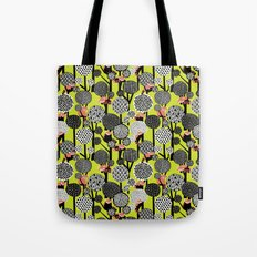 Red Panda Forest - Lime Green Tote Bag