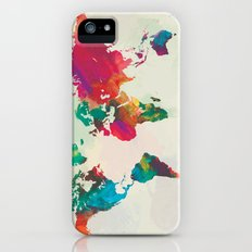 Watercolor World Map Slim Case iPhone (5, 5s)