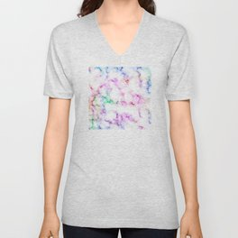Saltwater Taffy Colored Marble Pattern Unisex V-Neck