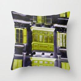 balcon green Throw Pillow