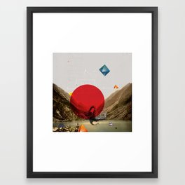 """P"" Framed Art Print"