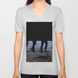 Walk Along the Shore Unisex V-Neck