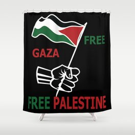 Free Palestine Shower Curtain