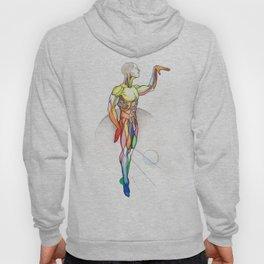 The Male, nude muscle anatomy, NYC artist Hoody