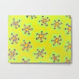 Yellow Emily Rose Metal Print