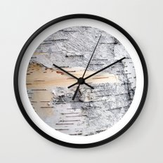 Planetary Bodies - Birch Wall Clock