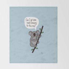 Koala Question Throw Blanket