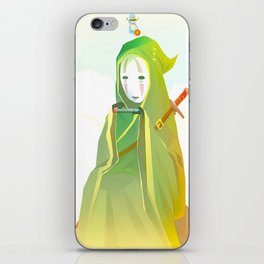 kaonashi-link iPhone Skin