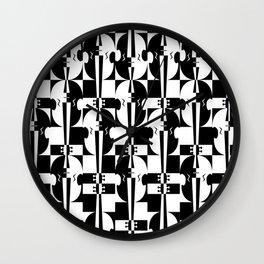 Optical Violins Wall Clock