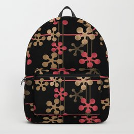 Abstract pattern in black red and brown tones . Backpack