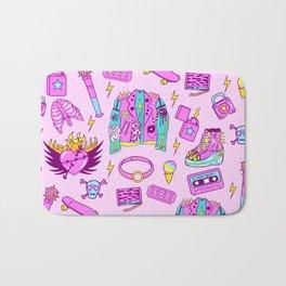 Pink Punk Girly Pattern Bath Mat