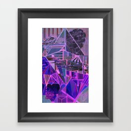 Geometric Inverse Framed Art Print