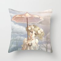 doll Throw Pillows featuring Doll by FReMO