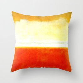 SUNSET- COLOR BLOCKS OF YELLOW & ORANGE Throw Pillow