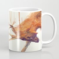 strong Mugs featuring Stags // Strong by Amy Hamilton