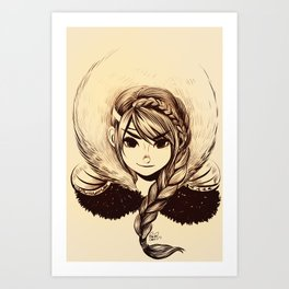 Viking Girl Art Print