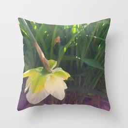 Daffodil Falling Throw Pillow