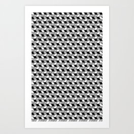 Drawn Triangles 02 Art Print