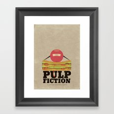 Pulp Fiction - Minimal Poster Framed Art Print