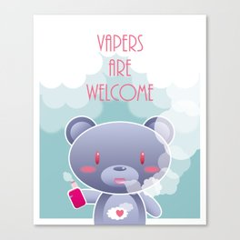 Vapers are Welcome (bear edition) Canvas Print