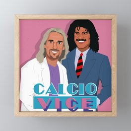 Batistuta and Gullit in Calcio Vice Framed Mini Art Print