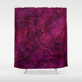 Purple Heavy Metal Shower Curtain
