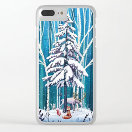 The Christmas tree Clear iPhone Case