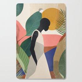 Tropical Girl Cutting Board