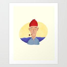 mr. Cousteau Art Print