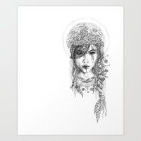 Her Moonchild Art Print