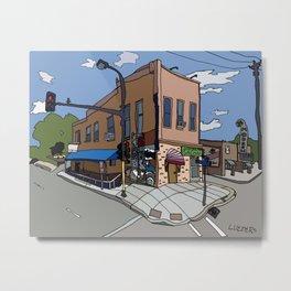 331 Club, Jon Oulman Salon, Modern Cafe - Minneapolis Metal Print