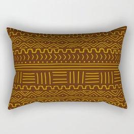 Mud Cloth on Brown Rectangular Pillow