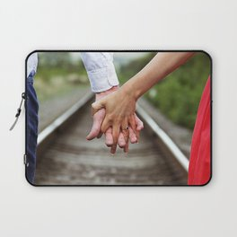 Holding Hands And Engaged Laptop Sleeve