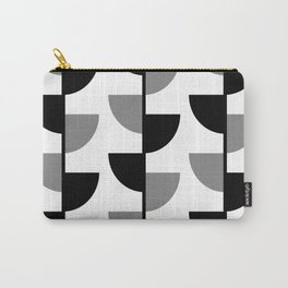 Climbing High - Black & Grey on White - Slices Series Carry-All Pouch