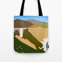 Big Sur Illustration Tote Bag