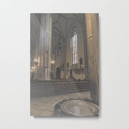 Saint Michaels Church Cluj Napoca Blessing Water Bath Metal Print