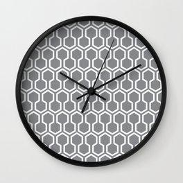Honey Comb Pattern Grey Wall Clock