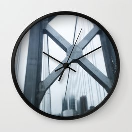 City in the Clouds- San Francisco  Wall Clock