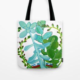Indian Pot with Succulents Tote Bag