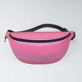 Strawberry Pink Stripes Fanny Pack