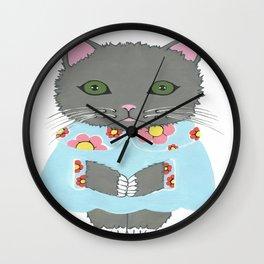 Chic Cat Wall Clock