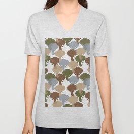 Elephant Camouflage Pattern Unisex V-Neck