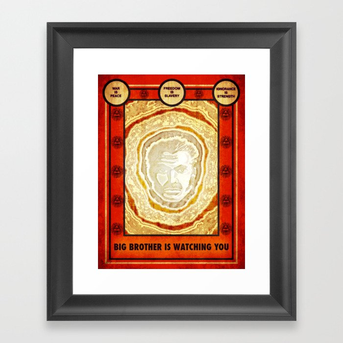 BIG BROTHER IS WATCHING YOU Framed Art Print by consumepopculture ...