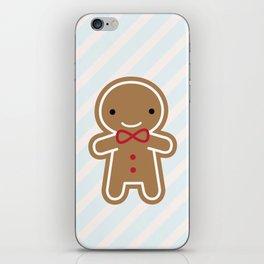 Cookie Cute Gingerbread Man iPhone Skin