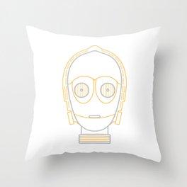 Illustration to line. c3po Throw Pillow