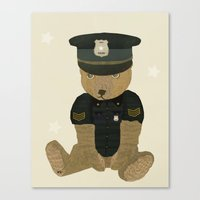 police Canvas Prints featuring police ted  by bri.buckley