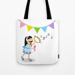 Happy little girl Tote Bag